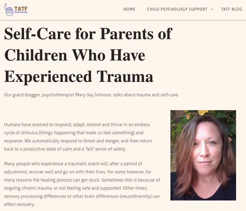Self-Care for Parents of Children Who Have Experienced Trauma